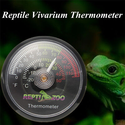 Reptile Tortoise Vivarium Terrarium Temperature Thermometer With Colour Codes