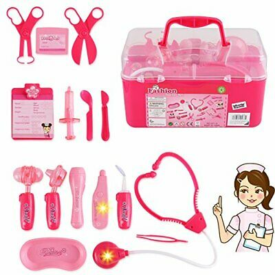 Doctor Nurse Medical Kit Playset Pretend Play Tools Toy Set Great Gift for Kids