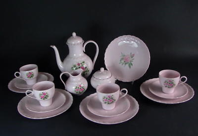 Hutschenreuther Kaffeeservice - Porcelaine Rose  4 pers