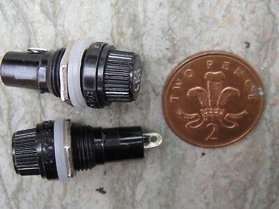 NOS Two 20mm Fuseholders, 10A 250V