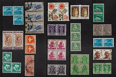 INDIA - mixed collection, joined pairs, strips, blocks, No.23