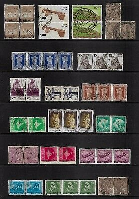 INDIA - mixed collection, joined pairs, strips, blocks, No.24