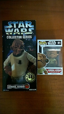 "BRAND NEW 1996 Star Wars Collector Series ADMIRAL ACKBAR 12"" Action Figure FUNKO"
