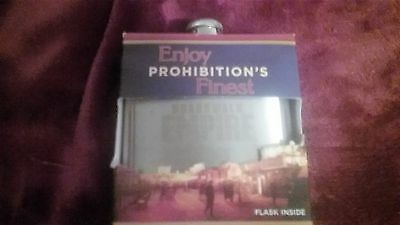 Canadien Club  Prohinition's  Boardwalk Empire Stainless Steel FLASK - New
