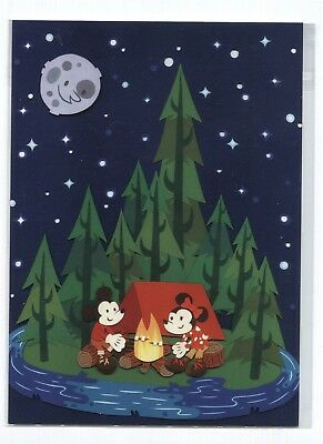 Disney Disneyland Resort Collectable Postcard Print Mickey Mouse Minnie Camping