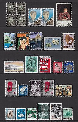 JAPAN - mixed collection No.51, incl joined pairs, block of 4