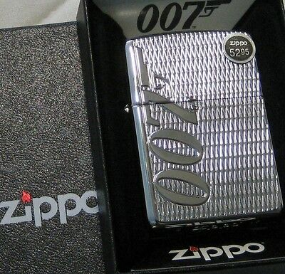 ZIPPO  CHOICE Lighter JAMES BOND Mint in Box 007Logo  ARMOR New DEEP CARVED