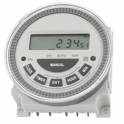 AC 200-250V SPDT LCD Digital Time relé Interruptor Programable Temporizador