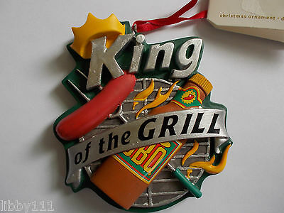 2008 Hallmark KING OF THE GRILL Ornament New with tags