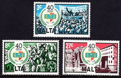 Malta 1983 General Workers' Union Complete Set SG719 -721 Unmounted Mint