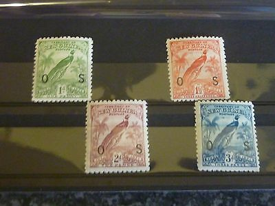 New Guinea Postage Stamps Sg031-034 Lmm With Dates