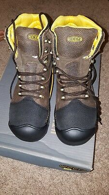 Keen Work Boots Milwaukee Insulated Wp Brown Leather Steel Toe M. Width/ Sz 10.5