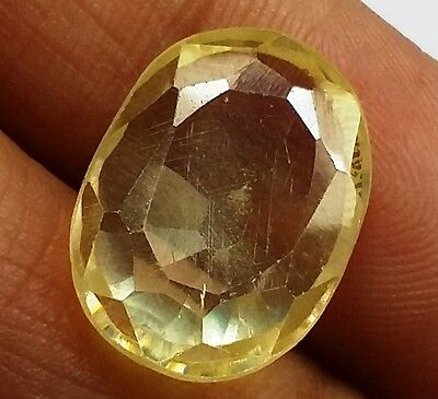 10.55 CT Lab Created YELLOW SAPPHIRE AAA+Best Quality Beautiful Gems 731