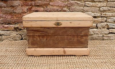 Old Pine Trunk Ships/Sea Chest...Coffee Table  ....Dated 1807....With Key..