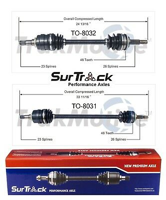 For Toyota Tercel Paseo 1987-1999 Pair of Front CV Axle Shafts SurTrack Set