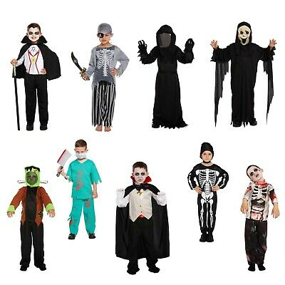 Halloween Fancy Dress Up Costume Outfit Ghost Vampire Monster Zombie Pirate Boys