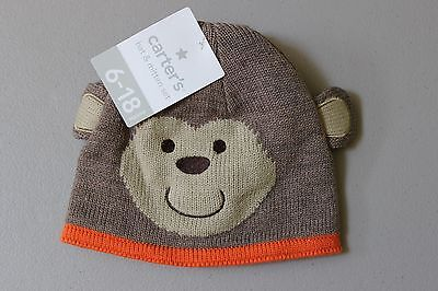 CARTER S BABY KNIT Monkey Hat   Mitten Set - 6-18 Months - Brown ... d995c6d0f0fd