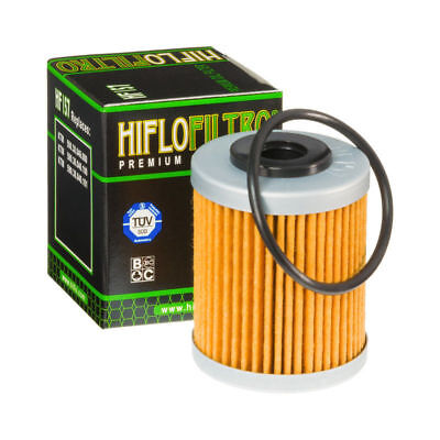 Hiflo Oil Filter HF157 KTM 400 EXC Racing (1 Hole Air Filter) 2nd Filter 04 - 05