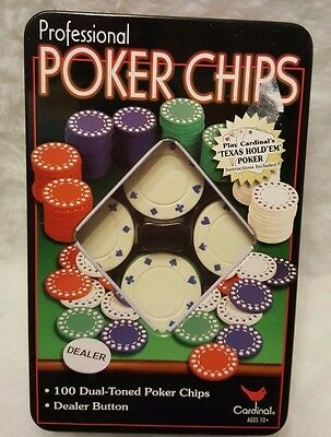 Cardinal Professional Poker Chips In Tin Box