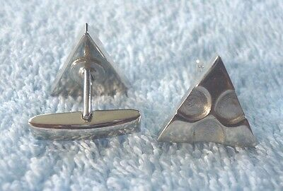 Silvertone Triangle Cufflinks