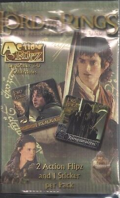 2 x Sealed Packs Pack Lot Lord of the Rings Fellowship of the Ring Action Flipz