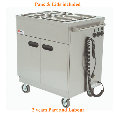 Parry 1887 Mobile Servery Hot Cupboard Food Warmer Bain Marie 845Wx625Dx975Hmm