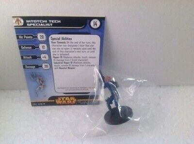Star Wars Revenge of the Sith 47/60 Iktotchi Tech Specialist (U) Miniature