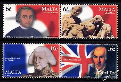 Malta 1999 Uprising Against the French Complete Set SG 1128 - 31 Unmounted Mint