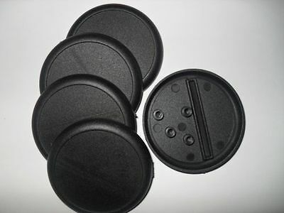 6 (Six) 50mm Lipped / Round Bases for Wargaming and Roleplaying NEW
