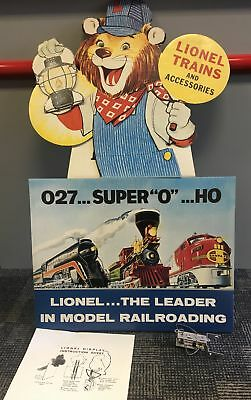 Lionel Trains Lenny the Lion Cardboard Display Reproduction 1996 New in Box