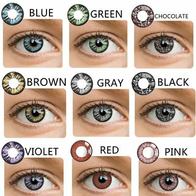 Coloured Contact Lenses Crazy Halloween Coloured Cosmetic Makeup Cosplay lens***