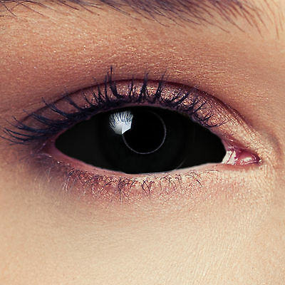 Black full Sclera contacts colored 22mm full eye Halloween costume lenses