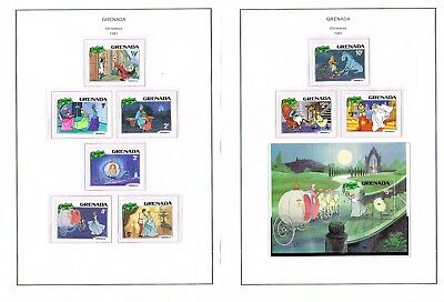 Grenada - Selection Of Mint Hinged Disney Sets And Min/sheets (7 Scans)