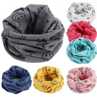 Children Warm Cotton Scarf Boy Girl Scarf Shawl Winter Neckerchief Neck Ring