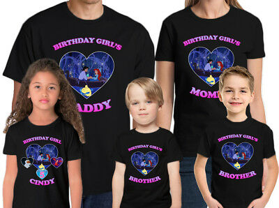 The Little Mermaid Birthday Shirt Custom Name And Age Personalized Ariel