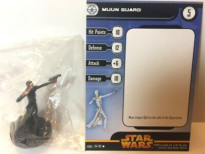 Star Wars Revenge of the Sith 34/60 Muun Guard (U) Miniature