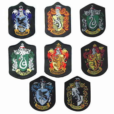 Harry Potter patch Gryffindor Slytherin Hufflepuff Ravenclaw house badge Embroid