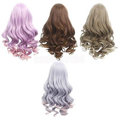 4pcs 18'' Doll Wigs Wavy Hair Hairpiece for Ameircan Girl Dolls Accessories