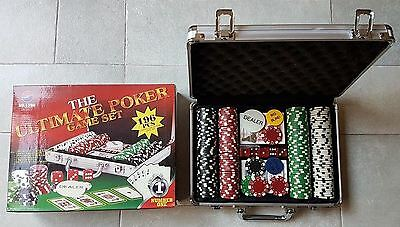 The Ultimate Poker Game Set 196 pcs CASINO SIZE POKER CHIP SET