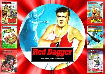 Red Dagger & Other Pocket Library Comics On DVD Rom
