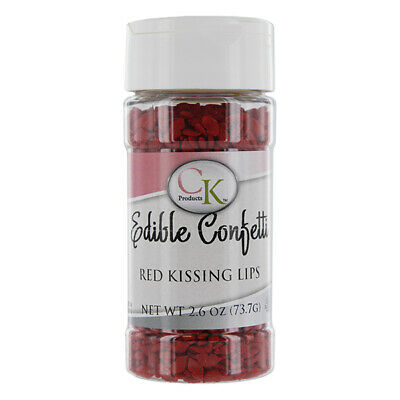 Kissing Lips Sprinkles- Red 2.8 Ounces by CK