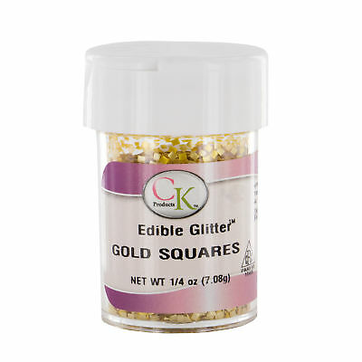Edible Glitter Gold Squares by CK