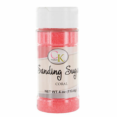 Sanding Sugar Coral 4 Ounces by CK