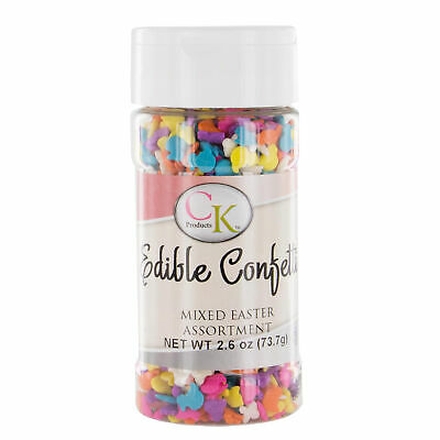 Mixed Easter Assortment Edible Confetti 2.6 Ounces by CK