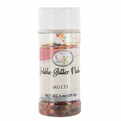 Multi-Colored Glitter Flakes 1 Ounce by CK