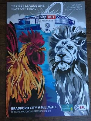 2017 Skybet League One Play-Off Final Bradford City V Millwall 20/5/17