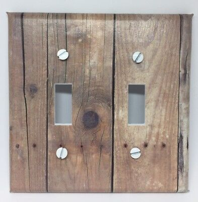 Barnwood Light Switch Cover Plate Wooden Planks Vintage Looking Old Wall Decor