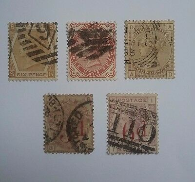 Great Britain Queen Victoria 1872 - 1883 stamps used x 5