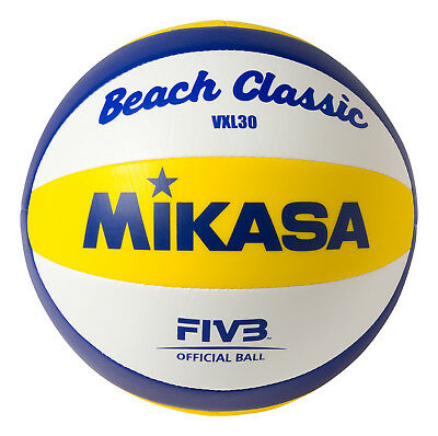 Mikasa VXL30 Replic Beach Classic Volleyball Blue/Yellow/White Size 5