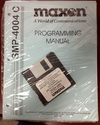 MAXON Programming Manual for SMP-4004C w Disc